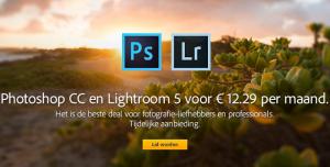 Adobe Photoshop + Lightroom aanbieding