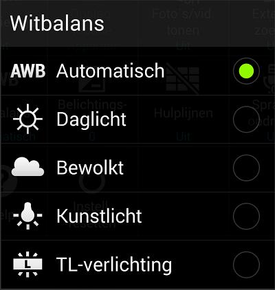 Witbalans smartphone camera